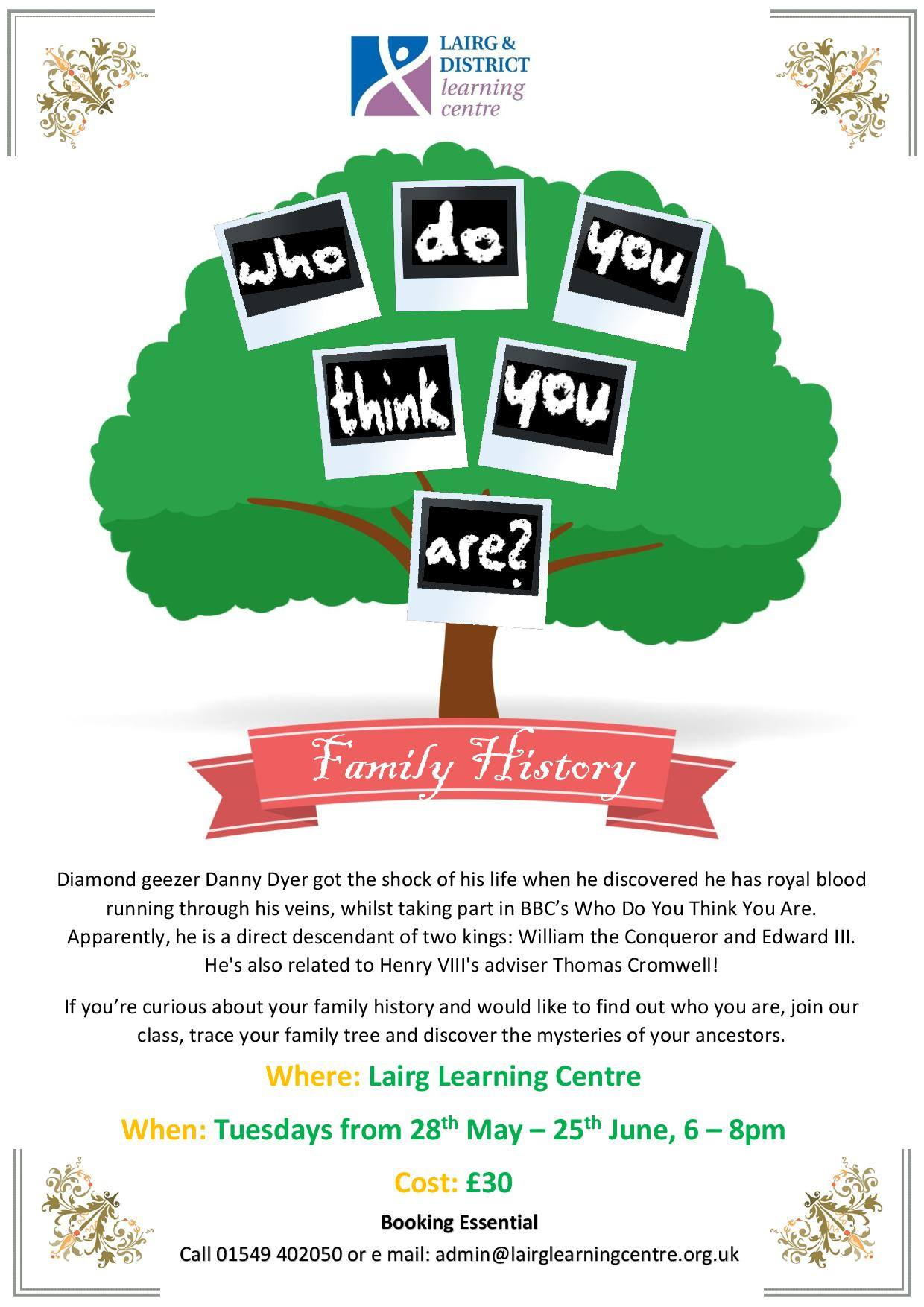 Lairg Learning Centre Family History Course
