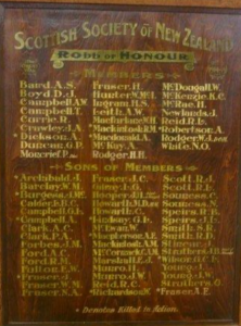 Scottish Society of New Zealand Roll of Honour